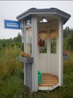 Customised bus stop near Salo, Finland