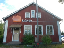 Kahvila (cafe) at Lohja railway station, Finland