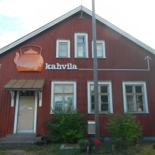 Kahvila (cafe) at Lohja railway station, Finland